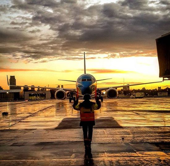 Sunset rain Sky One Person Outdoors People Urban Skyline Outdoors Rain Airport AirPlane ✈ Scenics Marshaling