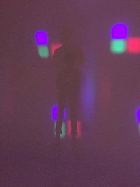 Arts Culture And Entertainment Celebration Dark Defocused Enjoyment Fun Glowing Illuminated Leisure Activity Lifestyles Light Lighting Equipment Multi Colored Night Nightlife Performance Pink Color Skill  Unrecognizable Person