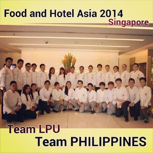 We're ready to Rock Singapore ;) TeamLPU TeamPHILIPPINES FoodAndHotelAsia2014 Singapore