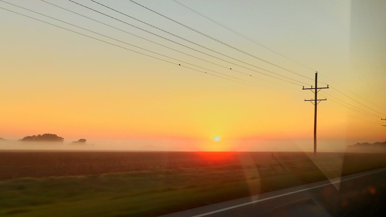 sunset, cable, connection, power line, nature, sun, power supply, electricity, electricity pylon, silhouette, no people, sky, outdoors, landscape, beauty in nature, technology, scenics, day