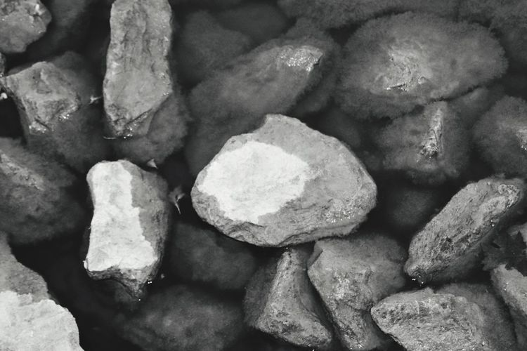 Rocks in the pond Full Frame Backgrounds No People Rock Large Group Of Objects Solid High Angle View Rock - Object Close-up Still Life Stone Pebble EyeEmNewHere