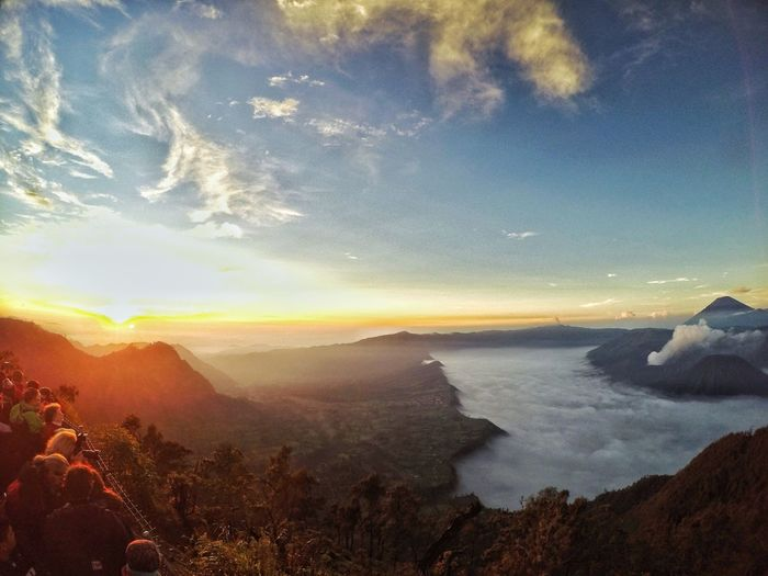 People Crowd Mountain Sunrise Mount Bromo Clouds And Sky Astronomy Sea Sky Cloud - Sky Landscape EyeEmNewHere
