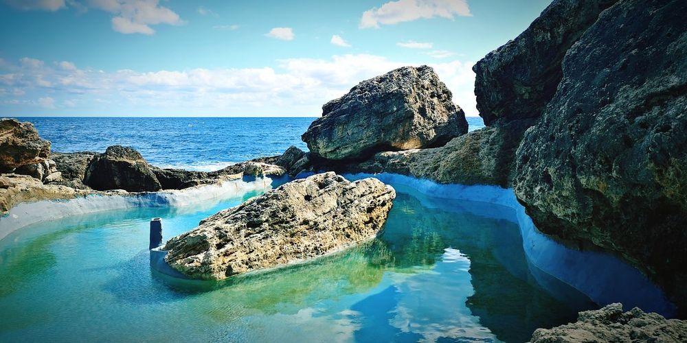 Cala Egos (Mallorca) Mallorca Balearic Islands SPAIN Water Sea Rock - Object Sky Horizon Over Water Rock Formation Turquoise Colored Rock Stone Coast Rocky Coastline