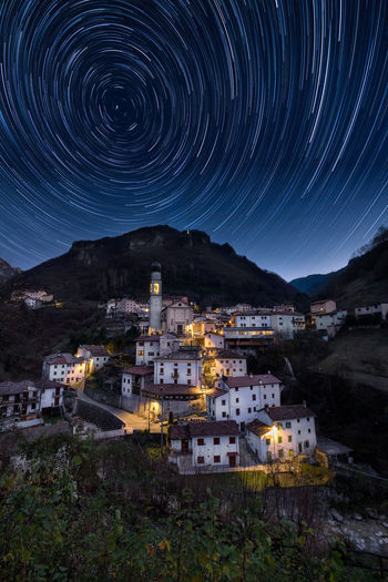 Giazza Star Trail Night Astronomy Star Trail Long Exposure Mountain Space Outdoors Building Nature Sky Giazza Lessinia Verona Veneto Cityscape Light Tourism Tourist Love Beautiful Beauty Panorama Skyline View Nightphotography EyeEmNewHere