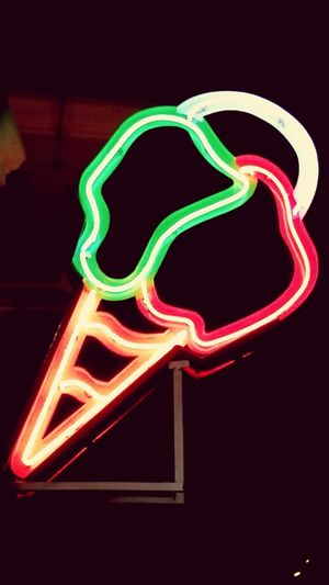 All The Neon Lights GMT Italiano ice cream Pondicherrybeach Holiday Desserts Real Flavours Favourite One