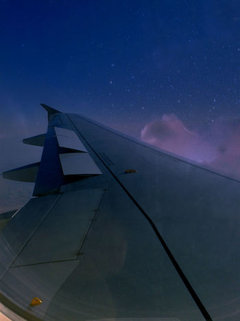 Airplane Beauty In Nature Blue Galaxy Nature Night Sky Space Up In The Clouds Up In The Sky