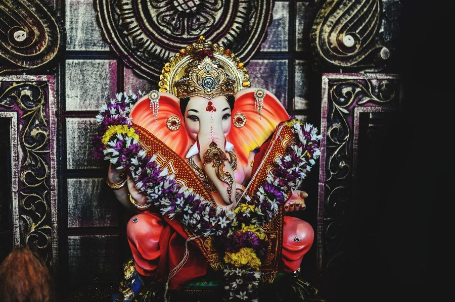 EyeEm Selects Indoors  One Person People Day Close-up GanpatiBappaMorya Festival GaneshChaturthi