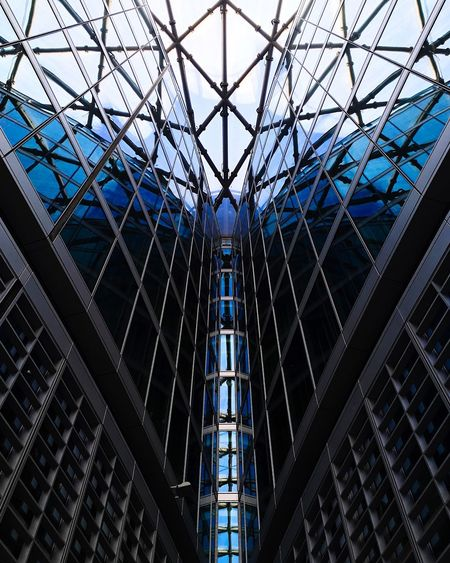 Architectural Butterfly Architecture Modern Built Structure Low Angle View Full Frame No People EyeEmNewHere Blue Day City Indoors  Futuristic This Is Masculinity