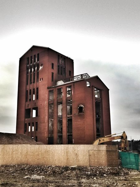Architecture Built Structure Building Exterior Industrial Red Brick Brick Sky Moody Regeneration Fence Building Site Derelict Building Industrial Building  Day Outdoors No People Redevelopment
