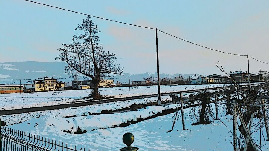 Landscape from my house Snow Landscape Trees Trees And Sky Magic Colors Country Road Country Life Country Taking Photos Hello World Enjoying Life Italy EyeEm Masterclass Nature Nature_collection Saturday Afternoon