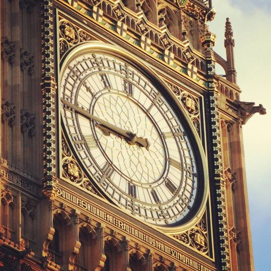 Architecture Travel Destinations Low Angle View History Clock Travel Tourism Outdoors Time Day No People Building Exterior Built Structure City Close-up Astrology Sign Clock Face Astronomy Big Ben Westminsterbridge Cityscape Sky Housesofparliament Politics And Government Urban Skyline EyeEm LOST IN London