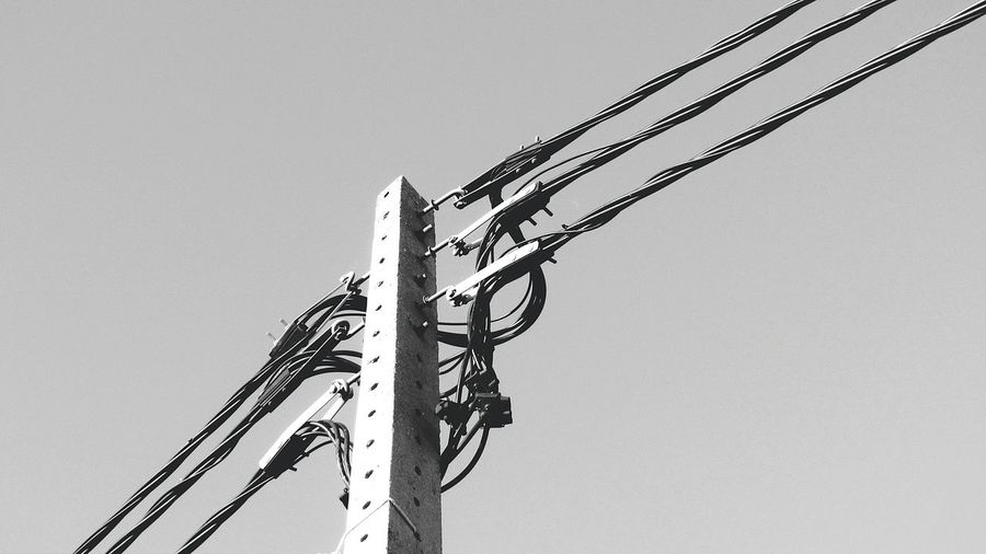 Electric Cables... Blackandwhite Photography Electric Lines Electricity  Electricline Electric Taking Photo Taking Pictures Black And White Takingphotos