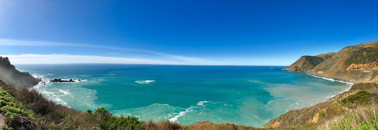 Big Sur Sea Water Scenics - Nature Beauty In Nature Sky Blue Beach Land Tranquil Scene Horizon Over Water Tranquility Horizon Day Nature Idyllic Sunlight Non-urban Scene No People Outdoors