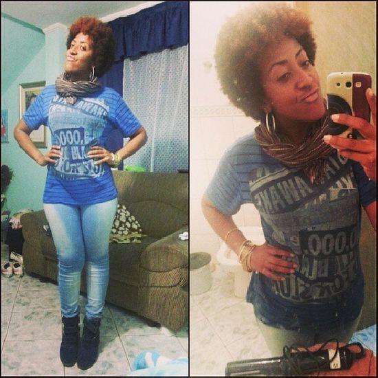 Swaggirl Swag Amazing Amazinggirl curlyhair blackgirl happiness beautiful blueandblack instafashion jeans style