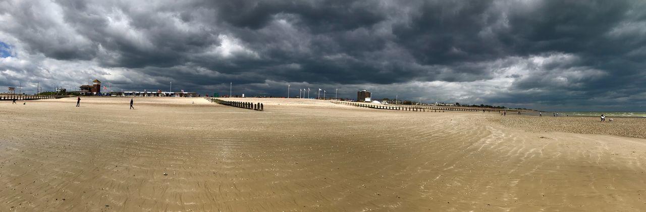 Moody Sand Apocalypse Ominous Dark Clouds Beach Beach Cloud - Sky Land Sea Sand Water Storm Storm Cloud Overcast Tranquility My Best Photo The Mobile Photographer - 2019 EyeEm Awards