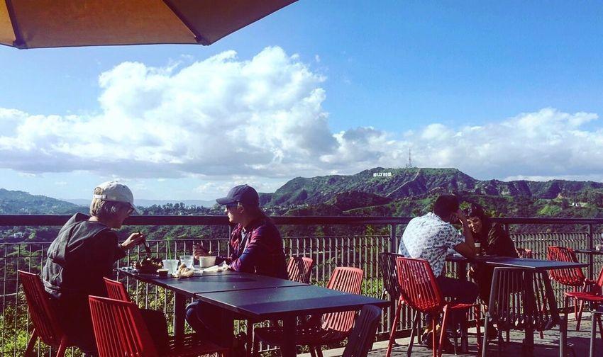 Sky Women Outdoors Hallywoodsign Grififth Observatory Blue Sky Green California