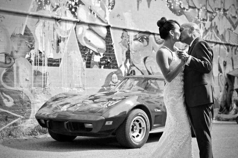 Corvette Wedding Wedding Marriage  Wedding Photography CorvetteStingray Corvette Plaza Theater Clockwork Orange  Graffiti Car