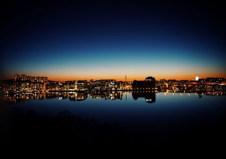 2019 Niklas Storm April City Cityscape Illuminated Urban Skyline Clear Sky Sunset Water Blue Reflection Housing Settlement Downtown District Office Building My Best Photo