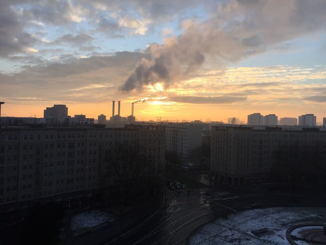 Air Pollution Berlin Building Exterior Built Structure City City Romance Cityscape Cold Communism Communist Architecture Dirty Snow Factory Fumes Industrial Industrial Landscapes Industry In City Polluted Sky Sky Skyline Smoke - Physical Structure Smoke Stack Social Issues Sunset Urban Skyline Winter