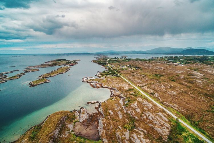 Coastline in Norway Dronephotography Aerial Photography Aerial Landscape Water Sea Beach Low Tide Aerial View Sunset Rock - Object Sky Horizon Over Water Landscape Seascape Ocean Tide Coast Coastline Calm Coastal Feature Rocky Coastline Headland Bay Of Water
