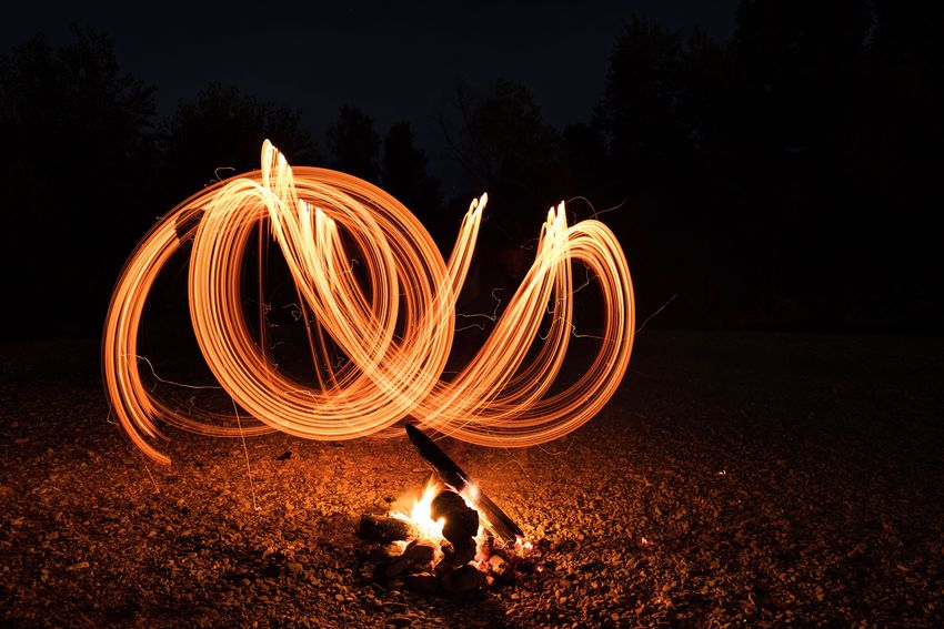 Mix Yourself A Good Time EyeEm Selects fFire PaintingLight Painting Word Fire Beach Night No People The Week On EyeEm