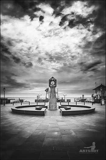 Baltic Sea - Ostseebad Binz Cloud - Sky Sky Fine Art Photography ArtWork Art Light And Shadow Blackandwhite Baltic Sea Germany Balticsea Rügen Artshot Wolken Clock Travel Photography Photo Water Beach Promenade Tourism