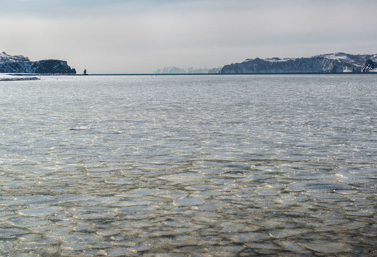 Scenic view of sea in russia