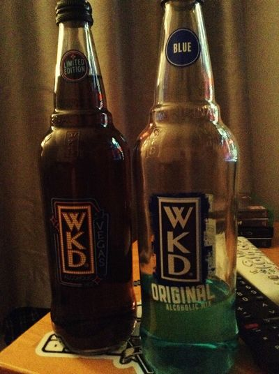 Drinking wkd watching steam, gd alco mix