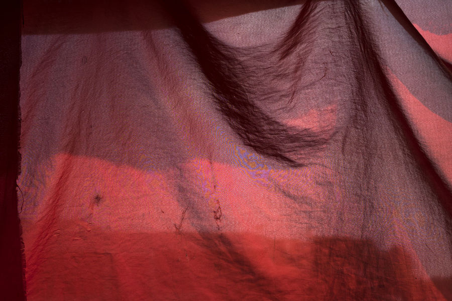 Abstract Backgrounds Canopy Shade Close-up Day Full Frame Hanging Light And Shadow Material Multi Colored No People Outdoors Pattern Red Softness Sunlight Textile Textured