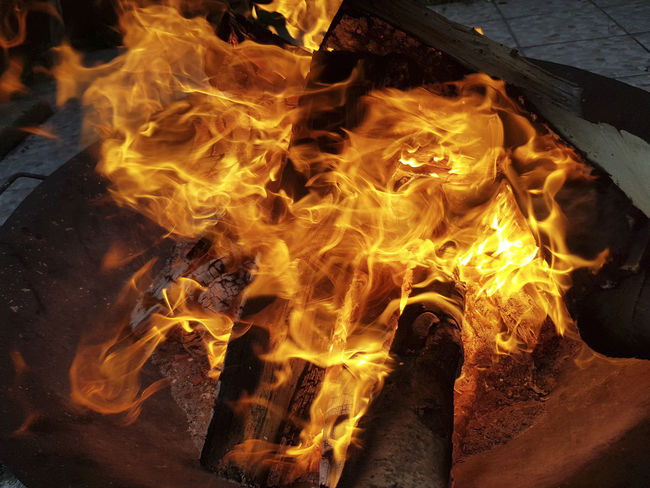 brazier Bonfire Brazier Burning Fire Fire Pit Flame Heat - Temperature Night No People Outdoors