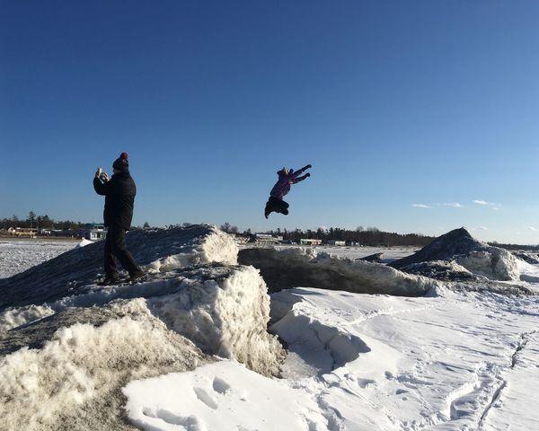 Jumping Georgian Bay Full Length Real People Men Leisure Activity