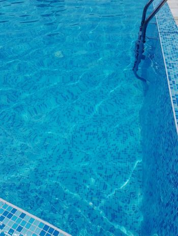 Swimming pool Water Refraction Swimming Pool Low Section Blue Backgrounds Full Frame High Angle View Rippled Pattern
