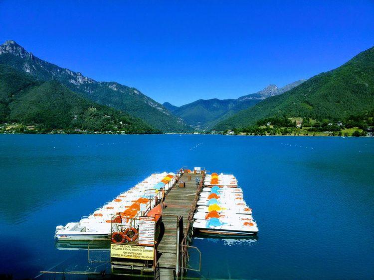 Water Mountain Lake Nautical Vessel Symmetry Sky