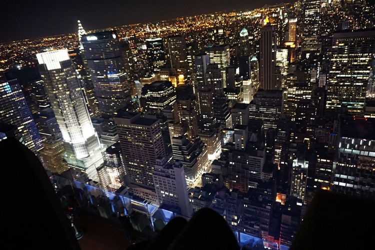 Top of the Rock! New York City Cityscapes New York Cities At Night