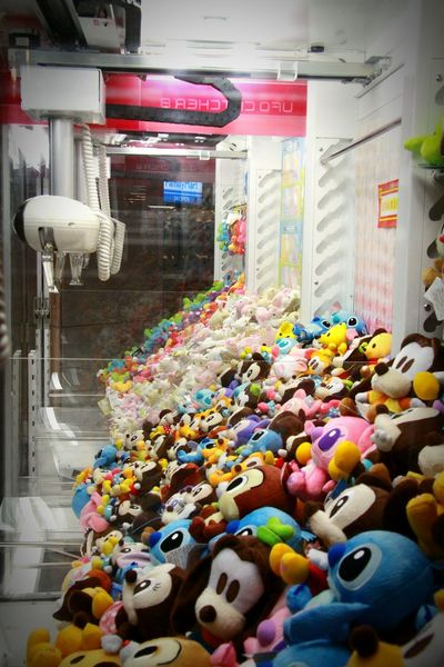 Take Me Out Waiting For Your Luck Stuffed Animals Game Arcade Machine Playing
