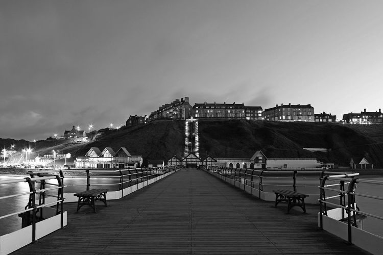 North Yorkshire Saltburn Pier Architecture Bridge Bridge - Man Made Structure Building Exterior Built Structure City Connection Diminishing Perspective Direction Footpath Incidental People Long Nature Outdoors Pier Railing Saltburn By The Sea Sea Sky The Way Forward Transportation Water