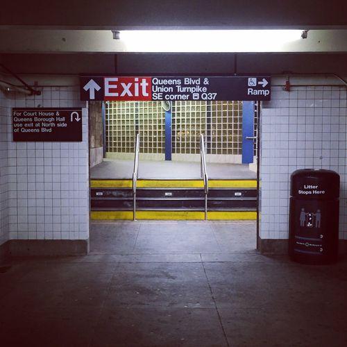 Empty exit of underground subway