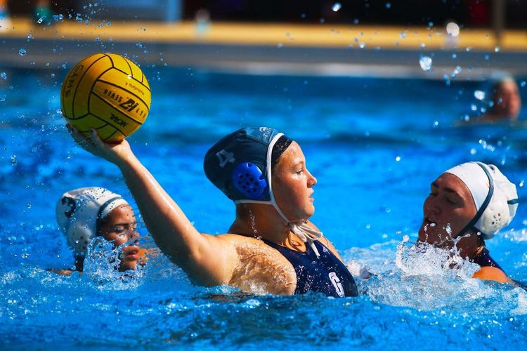 Action Effort Water Polo✌ Water Polo Player Sport Group Of People Water Athlete Swimming Pool Men Swimming Playing Motion Pool Splashing Swimming Cap Outdoors