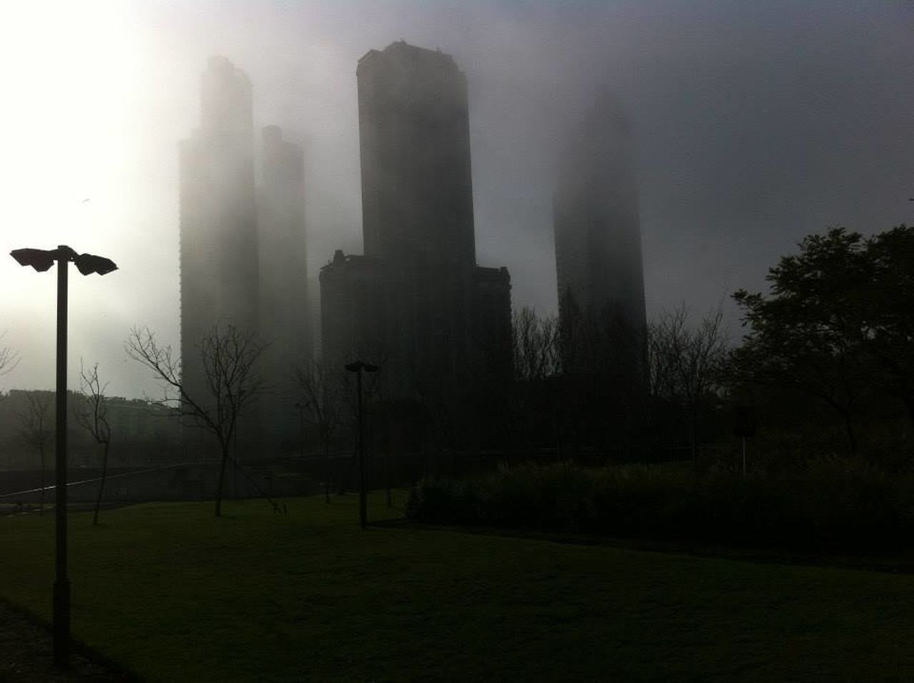 VIEW OF LAMP POST IN FOGGY WEATHER