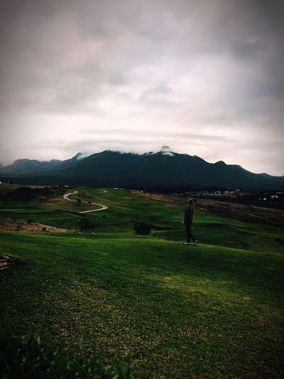 💚 Nature Nature Golf Course Me :)  Photography Beauty In Nature Landscape Mountain