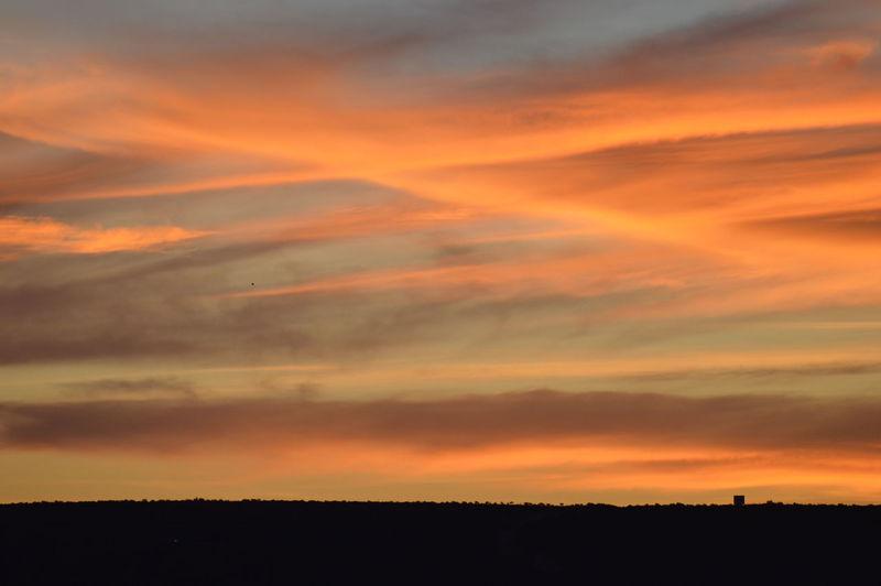 Sunset, clouds,