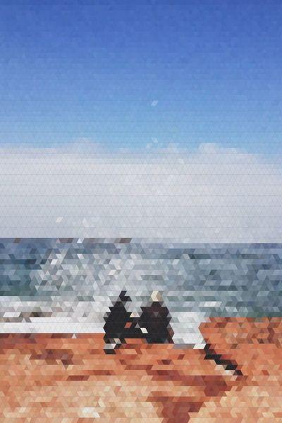 Pixel Beach Horizon Sky