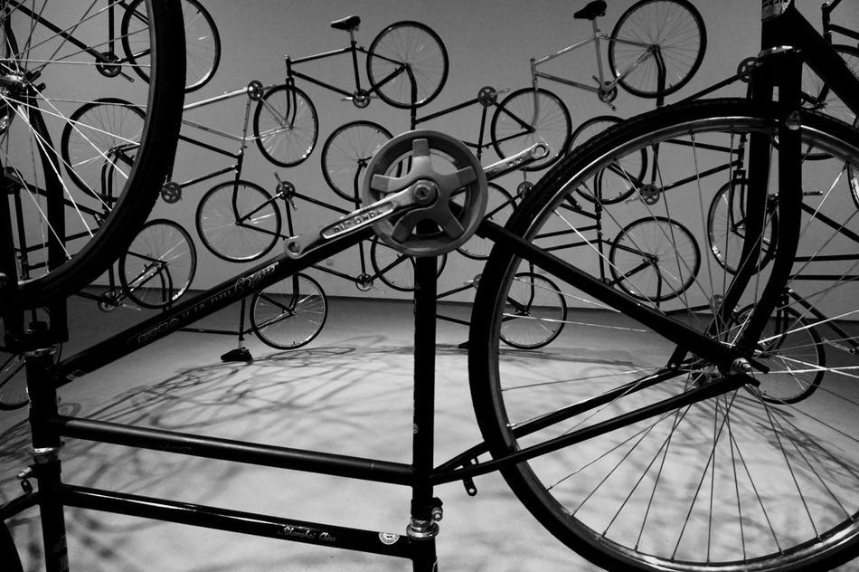 The Bicycle Diaries Bicycles Sculpture Tel Aviv Museum Of Art Exhibition Installation Wheels Israeli ArtWork Art