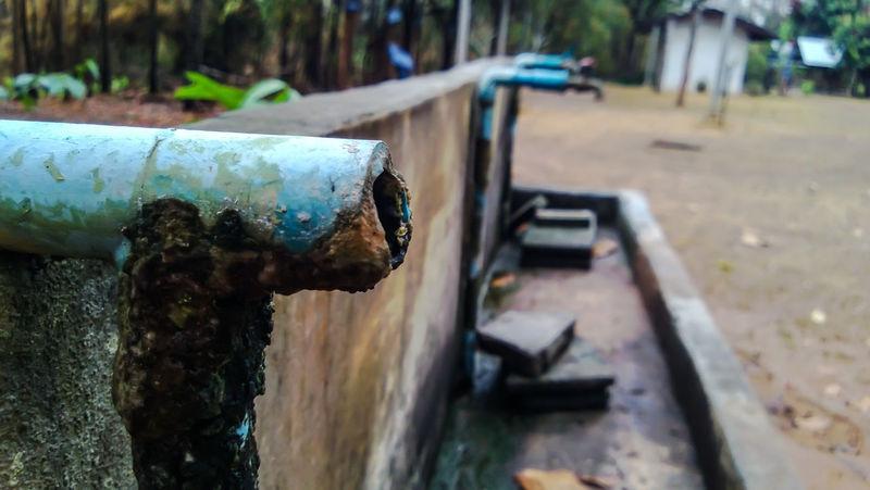 broken pipe type in old school Old School Broken Close-up Day Metal No People Outdoors Pipe - Tube