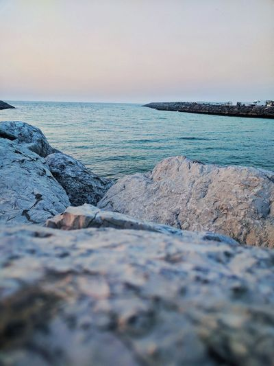 Sea Beach Rock - Object Horizon Over Water Sky Outdoors Nature Beauty In Nature Day No People Dubai UAE United Arab Emirates Rainy Days Rainy Days☔ Noedit Happiness Sharjah Travel Destinations