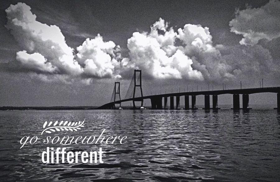 Suramadu Surabaya Bridge Blackandwhite