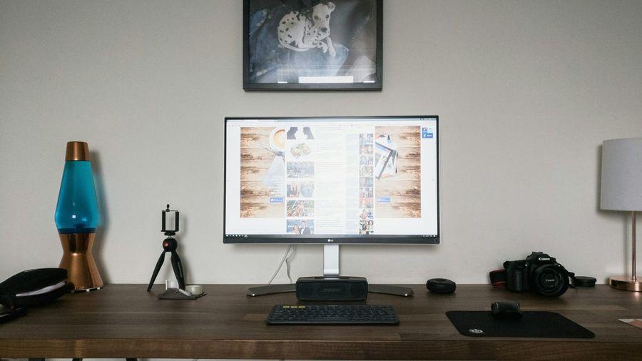 Desk setup. Office Desk Desktour Desksetup