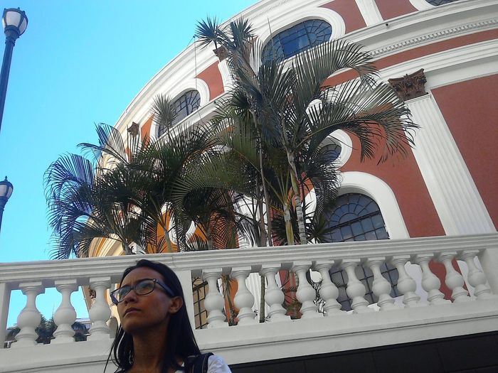 Adult Adults Only Building Exterior Day Headshot Modelo Joseymar, Fondo: Teatro Municipal De Caracas. One Person Only Women Outdoors Palm Tree People