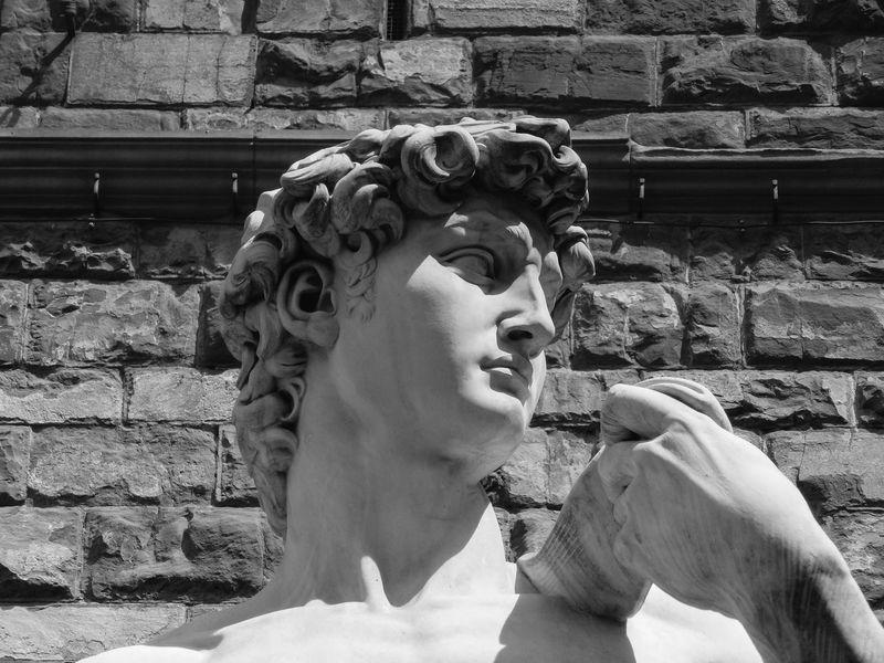 David Architecture Art And Craft Brick Wall Close-up Day Female Likeness Gargoyle Human Representation No People Outdoors Sculpture Statue