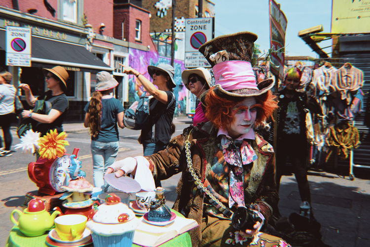 Madness isn't it Streetphotography 35mm Alice In Wonderland Mad Hatter City Multi Colored Market